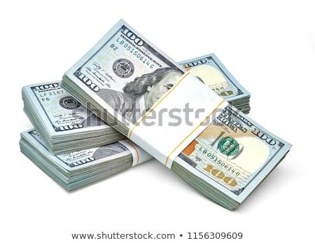 100 · dollari · banca · note · isolato · bianco - foto d'archivio © Pruser