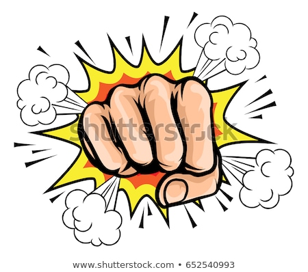 Comicbook Cartoon Fist Stock photo © Krisdog