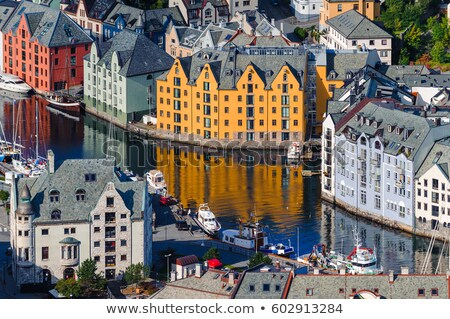 navio · porta · Noruega · europa · primeiro · plano - foto stock © kyolshin