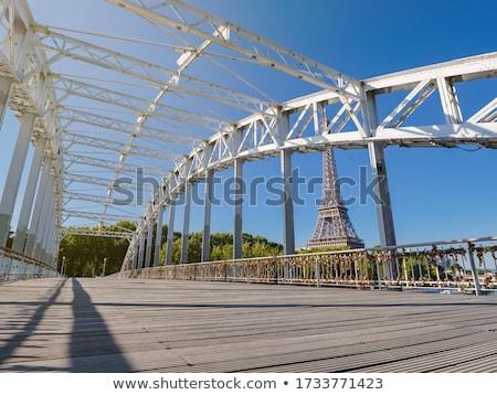 арки пешеходный мост Париж Франция металл путешествия Сток-фото © Givaga