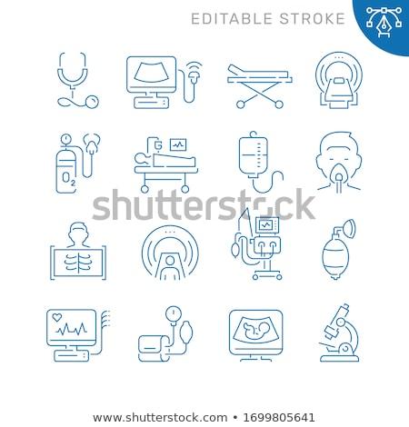 muzyka · szpitala · wyposażenie · ikona · wektora - zdjęcia stock © robuart