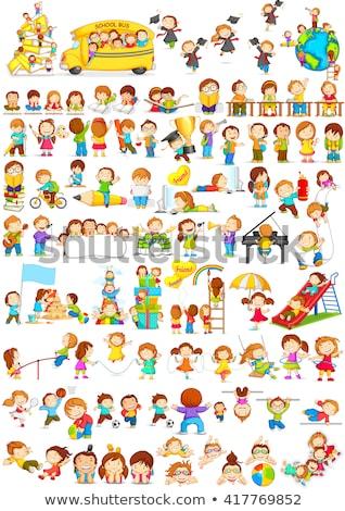 children doing different activities at school stock photo © bluering