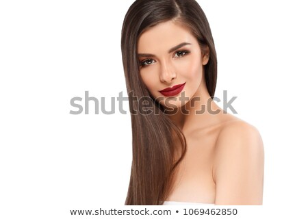 closeup shot of beautiful female hands with long fingers stock photo © nobilior