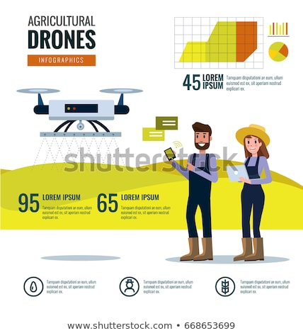 Stock photo: Digital vector flying internet of things concept