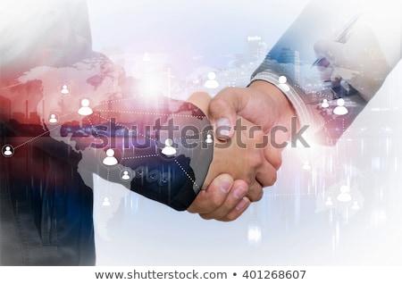 Zakelijke relatie overeenkomst uit vak corporate succes Stockfoto © Lightsource