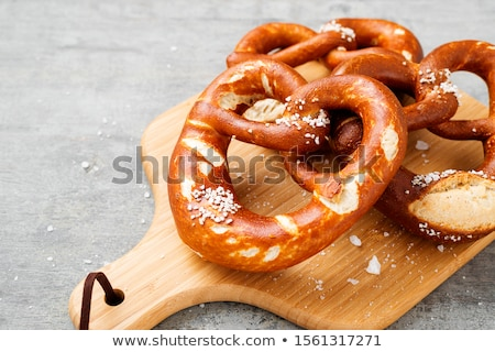 salty pretzel stock photo © fisher