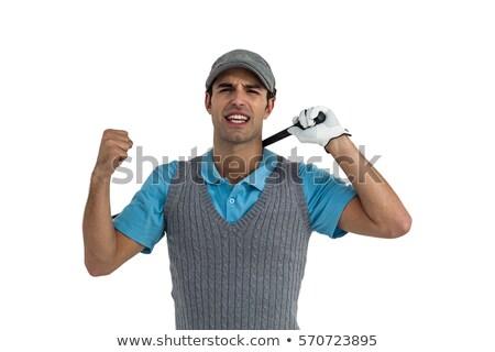 Portrait of golf player posing after victory Stock photo © wavebreak_media