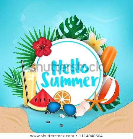 hello summer watermelon background design Stock photo © SArts