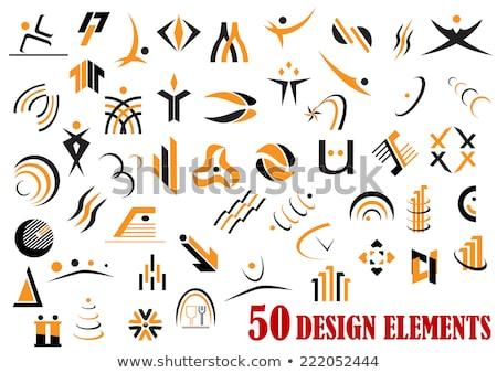 Yaratıcı turuncu soyut yalıtılmış logo Stok fotoğraf © studioworkstock