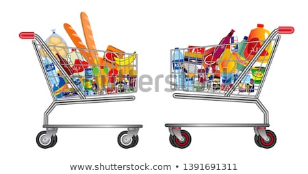 Supermarket trolley cart with products Stock photo © studioworkstock