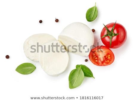 Mozzarella yalıtılmış beyaz üst görmek peynir Stok fotoğraf © Bozena_Fulawka