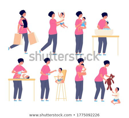 Mother holding son Stock photo © IS2