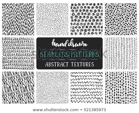 Egyszerű tinta geometrikus minta monokróm feketefehér kézzel rajzolt Stock fotó © Samolevsky