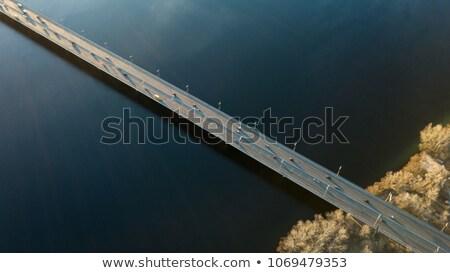 voetganger · brug · boven · rivier · la · hemel - stockfoto © artjazz