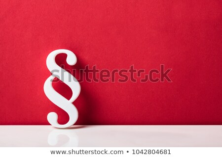 Close-up Of Red Paragraph Symbol Stock photo © AndreyPopov