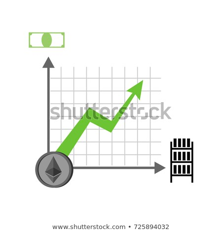 Growth etherium graph. Growth of  Cryptocurrency. Virtual money. Stock photo © popaukropa