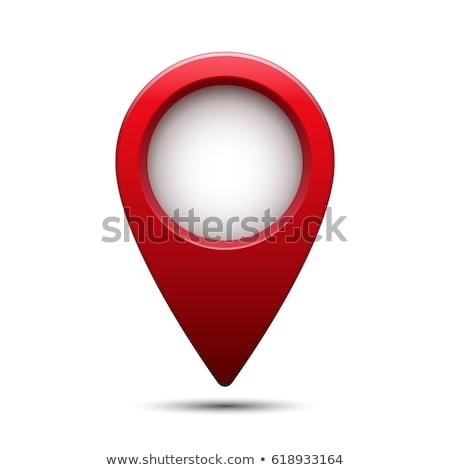 3D красный карта расположение цвета центр Сток-фото © Macartur888