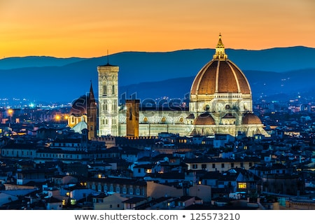 travel in Europe; romantic view in Florence. Italy. Toscana; Old Stock photo © Konstanttin