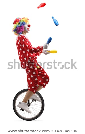A Circus Clown Show on White Background Stock photo © bluering