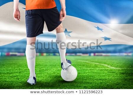Futballista narancs labda digitálisan generált zászló Stock fotó © wavebreak_media