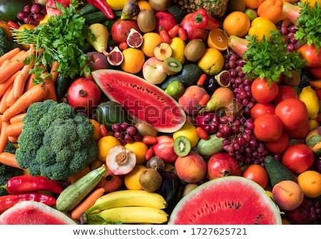 Mischung grünen Früchte Gemüse weiß Holz Stock foto © Lana_M