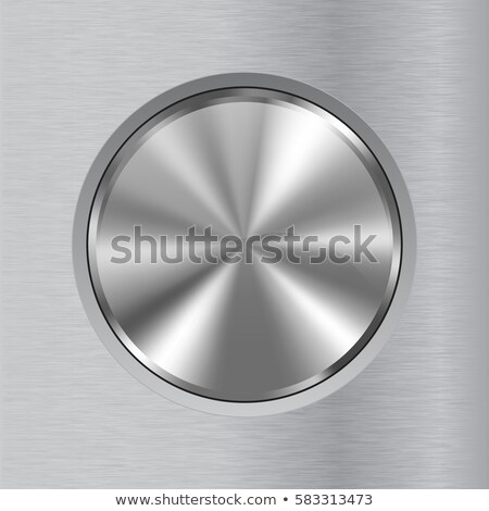 Technology Badge with Metal Brushed Textured Background Stock photo © molaruso