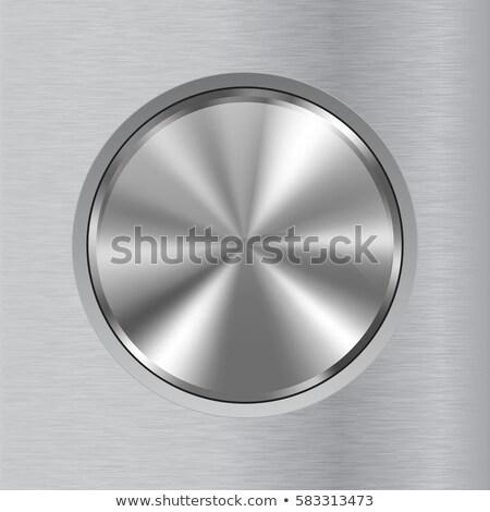 Foto stock: Tecnologia · distintivo · metal · abstrato