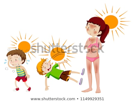A set of sun and heat cuased Stock photo © bluering