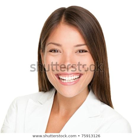 портрет · азиатских · деловая · женщина - Сток-фото © deandrobot