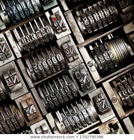 cobre · cartas · conjunto · vintage · isolado · branco - foto stock © boggy