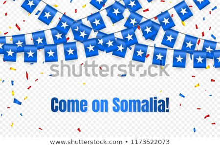 Somalia garland flag with confetti on transparent background, Hang bunting for celebration template  Stock photo © olehsvetiukha