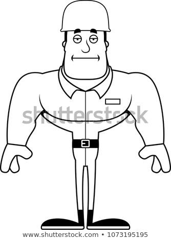 Cartoon soldaat vervelen illustratie leger naar Stockfoto © cthoman