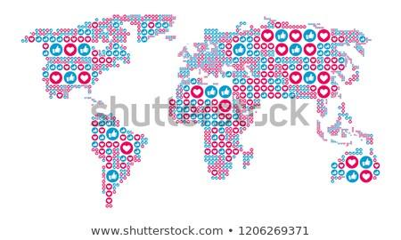 globális · hirdetés · oszlop · áll · Föld · földgömb - stock fotó © m_pavlov