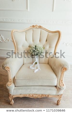 Gyönyörű elegáns elegáns menyasszonyi virágcsokor fehér Stock fotó © ruslanshramko