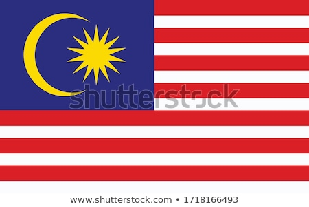 Malaysian flag isolated on white Stock photo © daboost