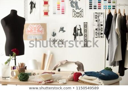 表 テーラー ファブリック ミシン ファッション ストックフォト © dashapetrenko