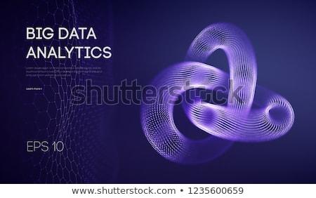 Digitális vektor analitika innováció technológia ikon szett Stock fotó © frimufilms