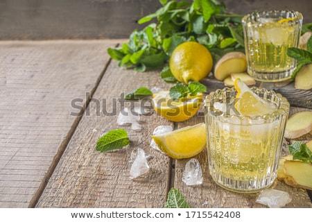 холодно лимонад коктейль лимона льда Сток-фото © homydesign