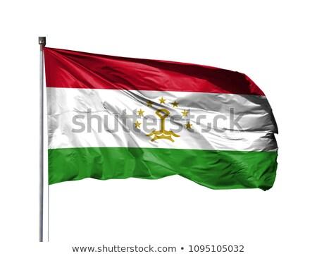 Таджикистан флаг изолированный белый оказывать Сток-фото © daboost