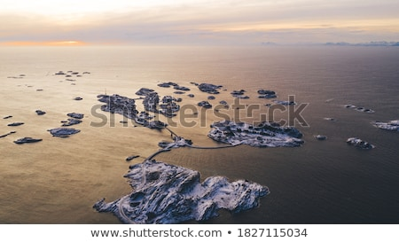 norway beautiful city covered with snow stock photo © anna_om