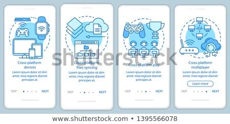 App interfejs szablon użytkownik laptop smartphone Zdjęcia stock © RAStudio