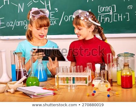 kinderen · school · laboratorium · onderwijs · wetenschap - stockfoto © dolgachov