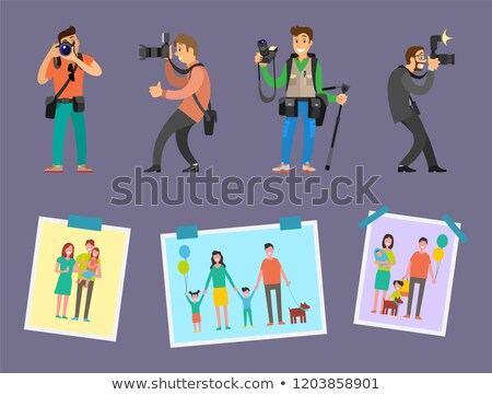 Familie foto freelancer foto's portefeuille Stockfoto © robuart