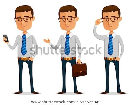 zakenman · bril · karakter · vector · kijken · smart - stockfoto © watcartoon