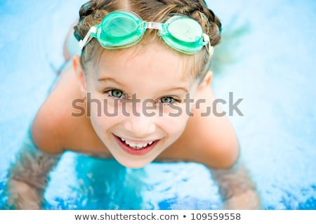 Tevékenységek medence gyerekek úszik játszik víz Stock fotó © galitskaya