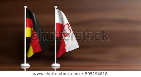 два флагами Германия Польша изолированный Сток-фото © MikhailMishchenko