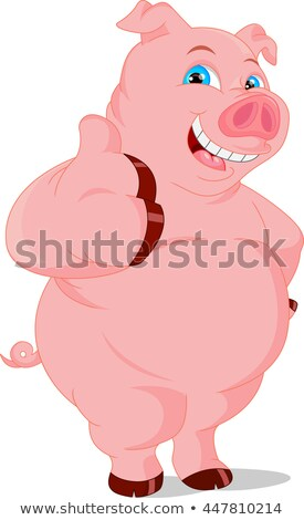 Permanent porcelet cartoon illustration porc Photo stock © robuart