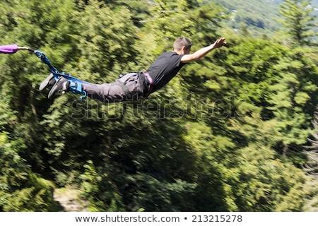 Férfi ugrik illusztráció égbolt fiú élet Stock fotó © adrenalina