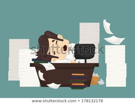 Negocios rendimiento empresario ocupado trabajo vector Foto stock © robuart