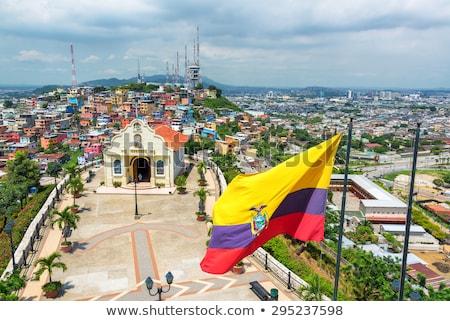Ház zászló Ecuador csetepaté fehér házak Stock fotó © MikhailMishchenko